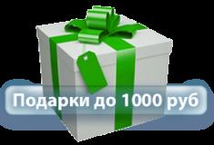 Подарки до 1000 руб