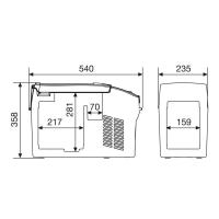Автохолодильник Dometic CoolFreeze CDF-11 - схема