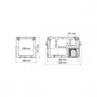 Автохолодильник Dometic CoolFreeze CFX-35 - схема