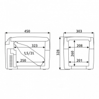 Автохолодильник Dometic TropiCool TC-14FL - схема