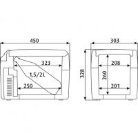 Автохолодильник Dometic TropiCool TCX-14 - схема