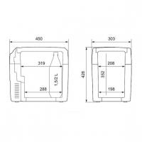 Термоэлектрический автохолодильник Dometic TropiCool TCX-21 - схема