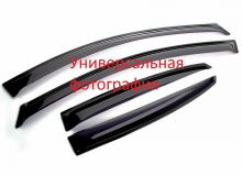 Дефлекторы боковых окон 4 ч темн Daewoo Nexia 1998- LUX
