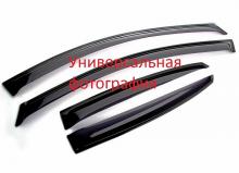 Дефлекторы боковых окон 4 части Ford Focus III SD/HB 2011-… г.в.- LUX