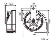 Звуковой сигнал PIAA SLENDER HORN (ультратонкие)