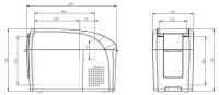 Компрессорный автохолодильник Colku DC-10F - схема