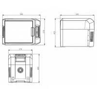 Компрессорный автохолодильник Colku DC-35T (33 литра)