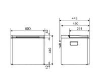Абсорбционный (газовый) автохолодильник Dometic COMBICOOL ACX 35 - схема