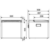 Автохолодильник Dometic CombiCool ACX 40 G - схема