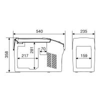 Автохолодильник Dometic CoolFreeze CF-11 - схема