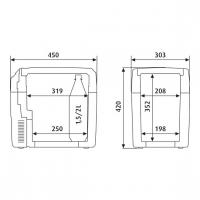 Автохолодильник Dometic TropiCool TC-21FL - схема