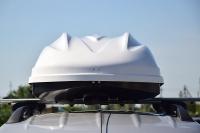 Бокс на крышу автомобиля Turino 1 Lux белый глянец