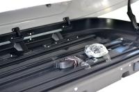 Бокс на крышу автомобиля Turino Compact двусторонний серый