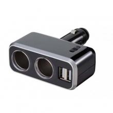 Разветвитель прикуривателя FIZZ-991 на 2 гнезда с двумя USB-портами