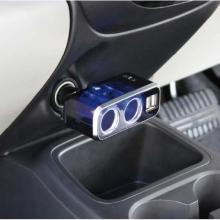 Разветвитель прикуривателя FIZZ-991 на 2 гнезда с двумя USB