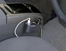 Разветвитель прикуривателя с удлинителем EM-110 на 2 гнезда с двумя USB