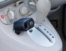 Разветвитель прикуривателя EM-115 на 1 гнездо с двумя USB