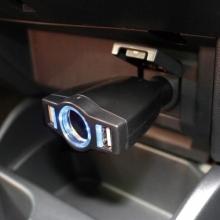 Разветвитель прикуривателя с удлинителем PZ-679 на 1 гнездо с тремя USB