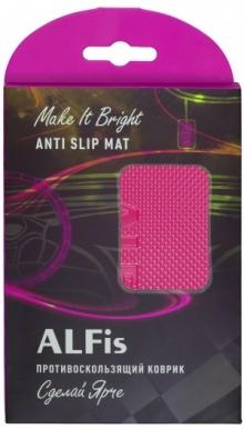 Коврик антискользящий для приборной панели ALFis (розовый)