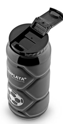 Кружка-термос из нержавеющей стали с вакуумной изоляцией Football can black 0,5 литра