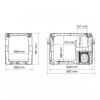 Автохолодильник Dometic CoolFreeze CFX-40 - схема